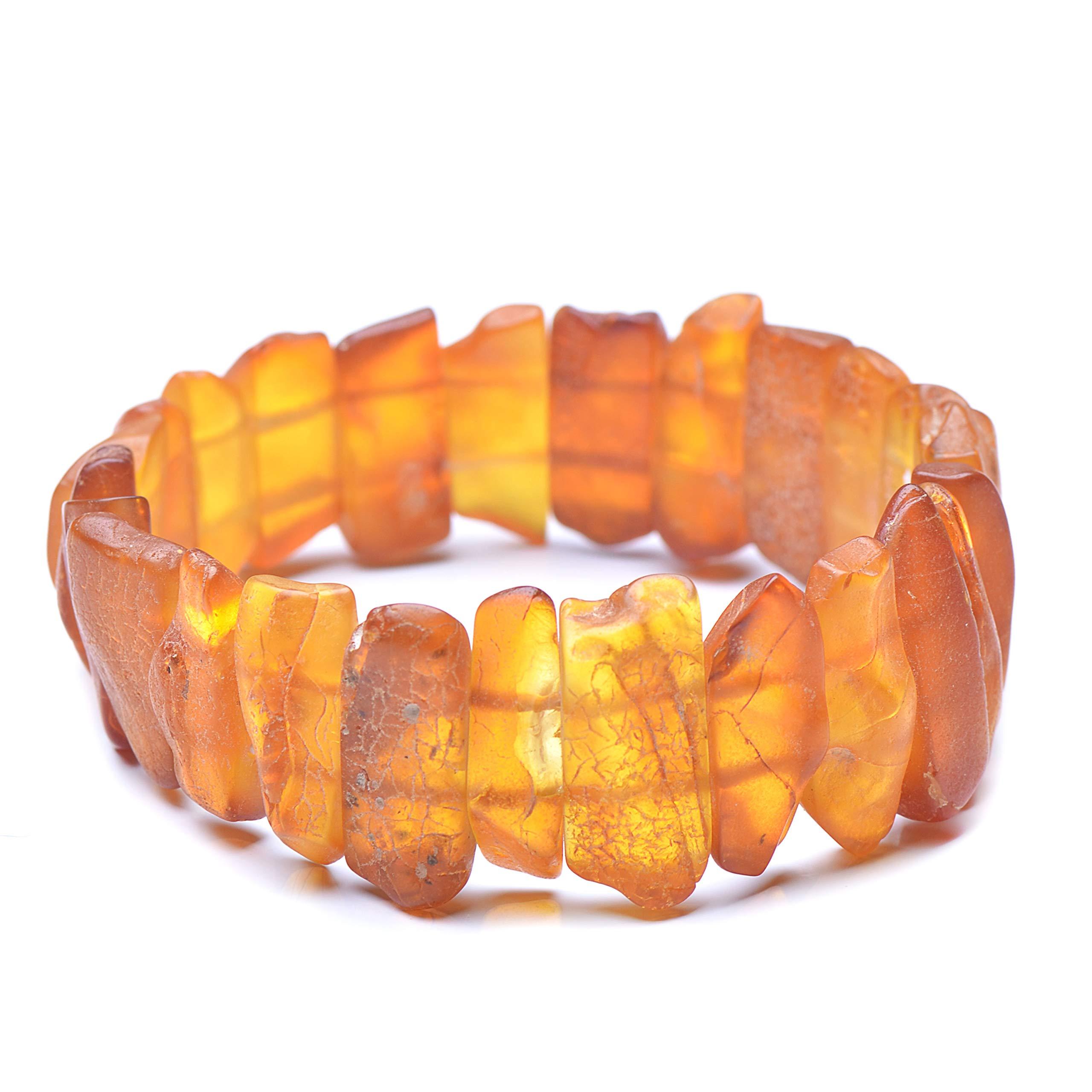 Amber Bracelet - Unique Amber Bracelet - Exclusive Amber Bracelet - Vintage Bracelet - Genuine Baltic Amber by Genuine Amber (Image #1)