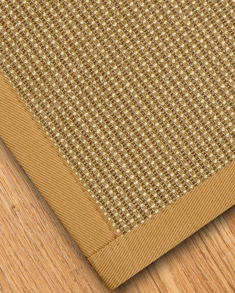 NaturalAreaRugs Crossroads Sisal Area Rug, Handmade in USA, 100% Sisal, Non-Slip Latex Backing, Durable, Stain Resistant, Eco/Environment-Friendly, (6'x9' ) Sage/Khaki Border by NaturalAreaRugs