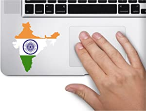 Map with Flag Inside India 3x3.2 inches Sticker Decal die Cut Vinyl - Made and Shipped in USA