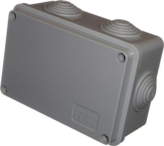 Caja de conexiones de 150 mm x 110 mm x 70 mm, con ojales, impermeable IP55, hecha en PVC, caja adaptable para iluminación al aire libre y cables de conexión eléctrica: Amazon.es: