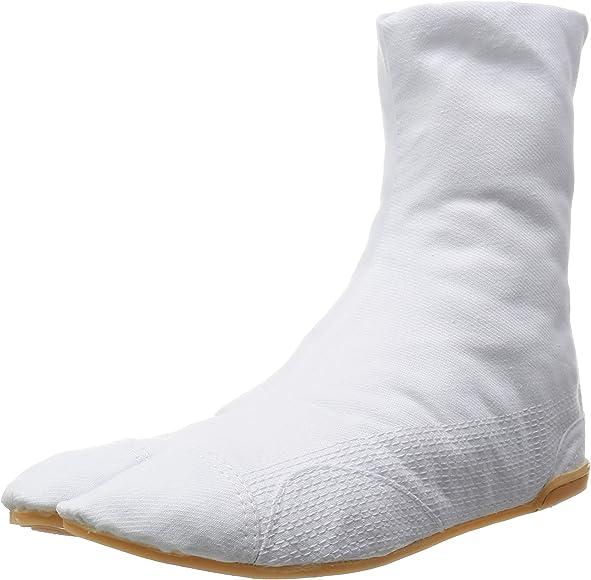 Amazon.com | MARUGO Mannen Japanese Tabi Shoes White with 7 ...