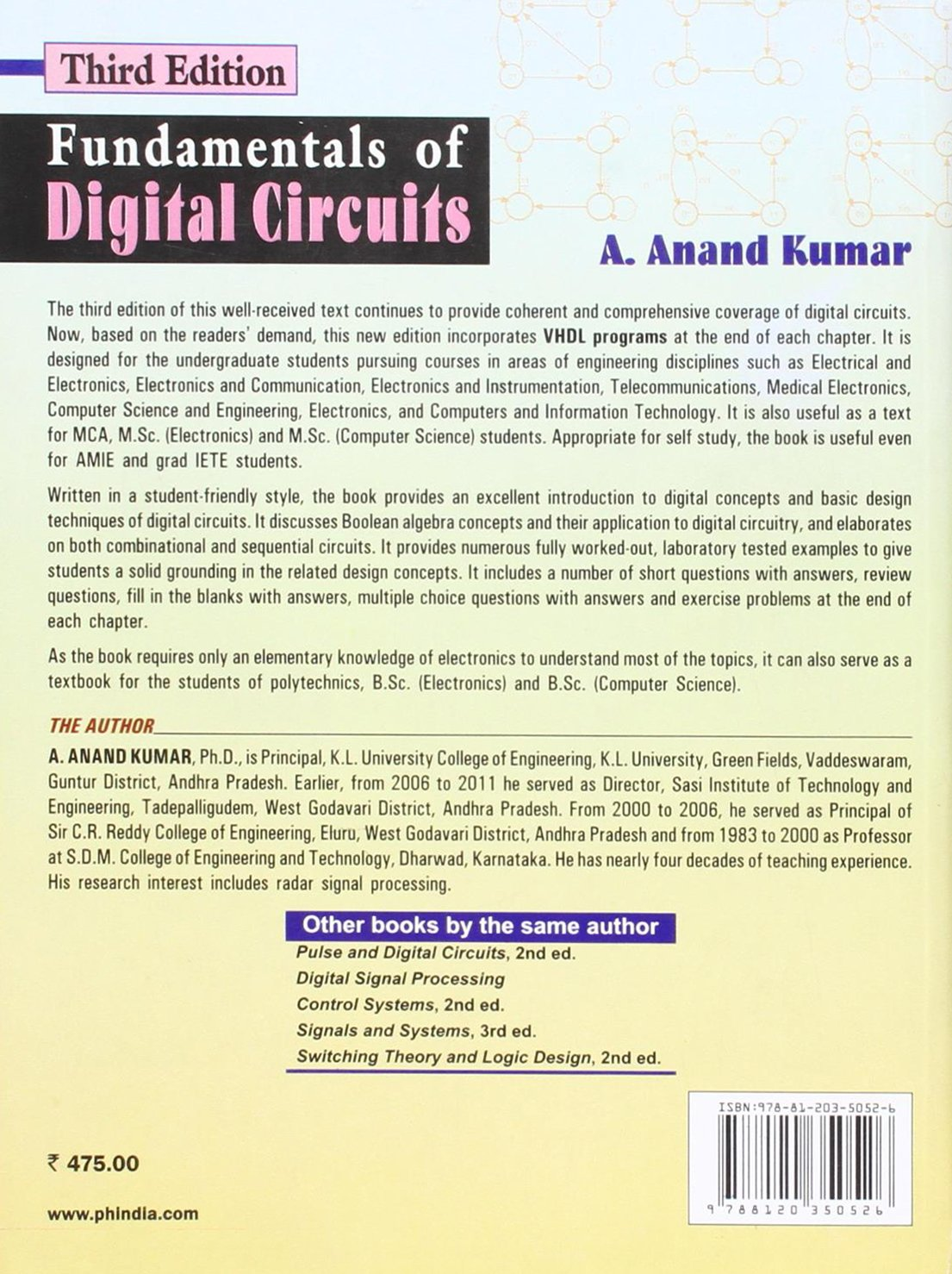 Buy Fundamentals Of Digital Circuits Book Online At Low Prices In Circuit And Logic Design India Reviews Ratings