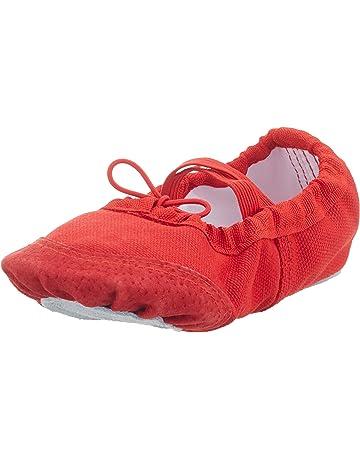 91a447762c93a Rouge Bluestercool Chaussures de Danse Femme Homme Moderne Ballet Jazz  Chaussures de Sport Lace Up Chaussures de Toile ...
