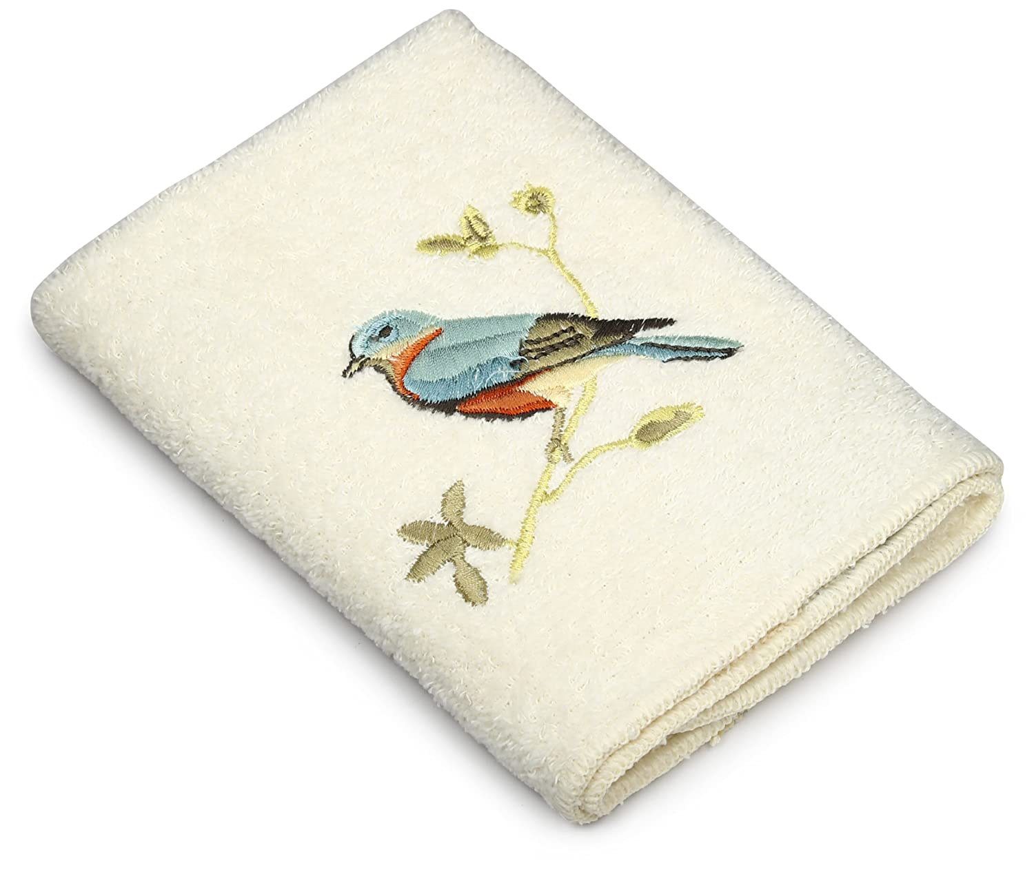 Avanti Linens Gilded Birds Embroidered 4-Piece Decorative Towel