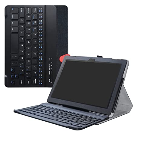 LiuShan Lenovo Tab 4 10 Bluetooth Teclado Funda, Detachable Wireless Bluetooth Teclado (Teclado QWERTY