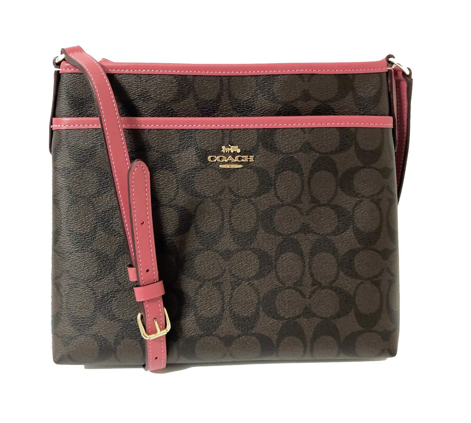 Coach Signature Zip File Crossbody Bag (IM/Brown Strawberry)