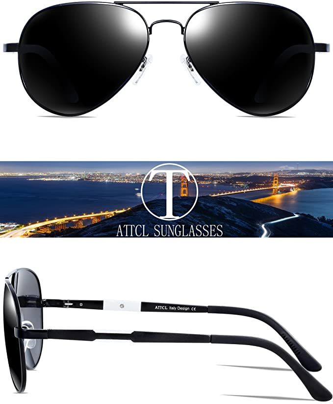 217ab15eeb Amazon.com  ATTCL Driving Polarized Sunglasses For Men Women  16695blackgray  Clothing