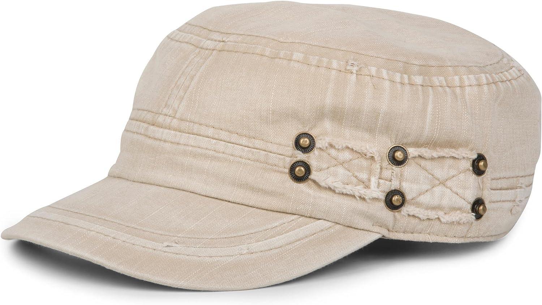 styleBREAKER berretto militare dal look washed used unisex 04023011 vintage regolabile