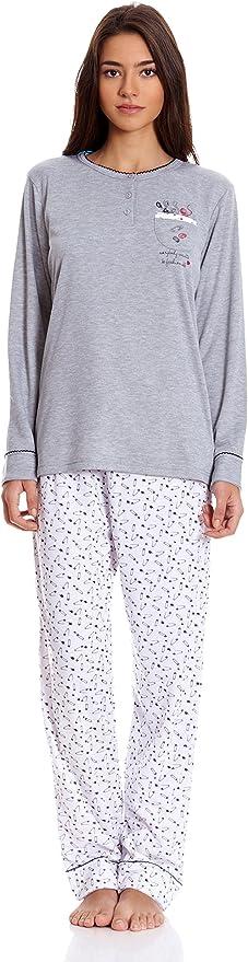 TRESS Pijama Gris L: Amazon.es: Ropa