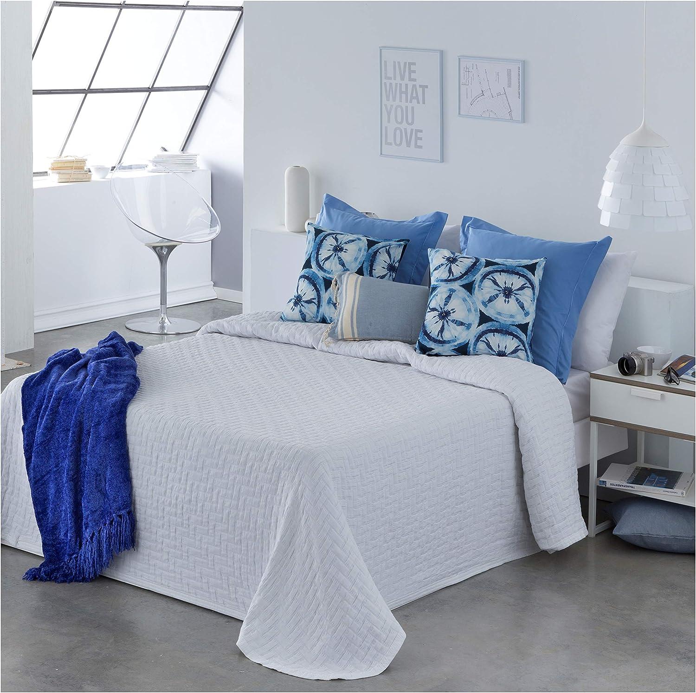 COTTON ART- Colcha Pique Blanco Mod. BIDEA Cama de 150 (250 x 260 cm): Amazon.es: Hogar