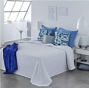 COTTON ART- Colcha Pique Blanco Mod. BIDEA Cama de 150 (250 x 260 ...