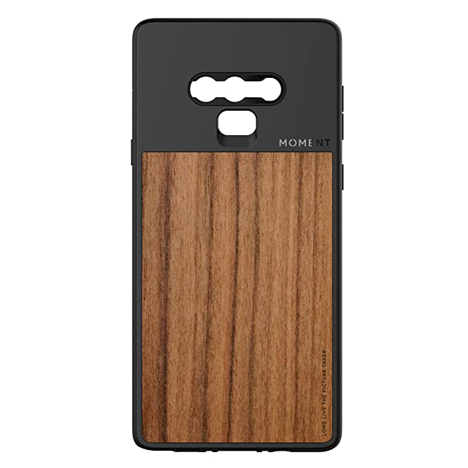 new style f216e a998c Galaxy Note 9 Case || Moment Photo Case in Walnut Wood - Thin, Protective,  Wrist Strap Friendly case for Camera Lovers.