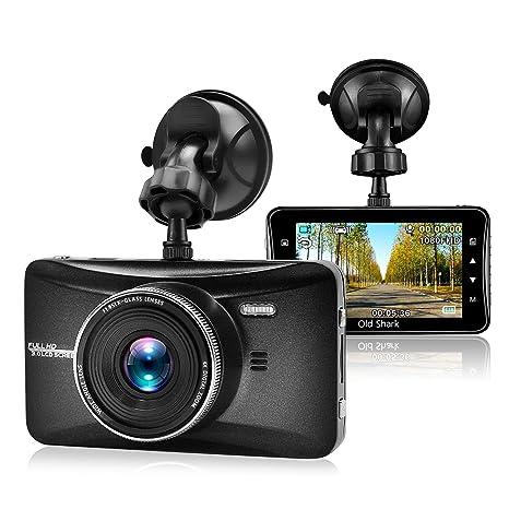 Cámara para coche, OldShark HD 1080P gran ángulo de 170° Dashcam Cámara con G
