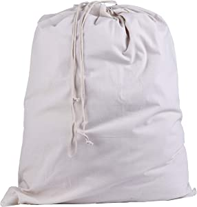 Atmos Green 2 Pack drawstring Laundry bag Natural Color 28 X36 Inch 5.5 oz Natural Cotton eco Friendly Super Strong Washable Multi use