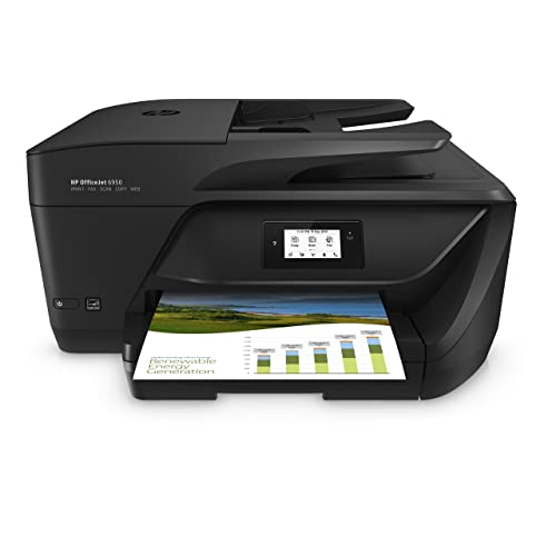 HP OfficeJet 6950 Imprimante Multifonction jet d'encre Noir/Blanc (16 ppm, 4800 x 1200 ppp, Wifi, Impression mobile, Fax, Instant Ink)