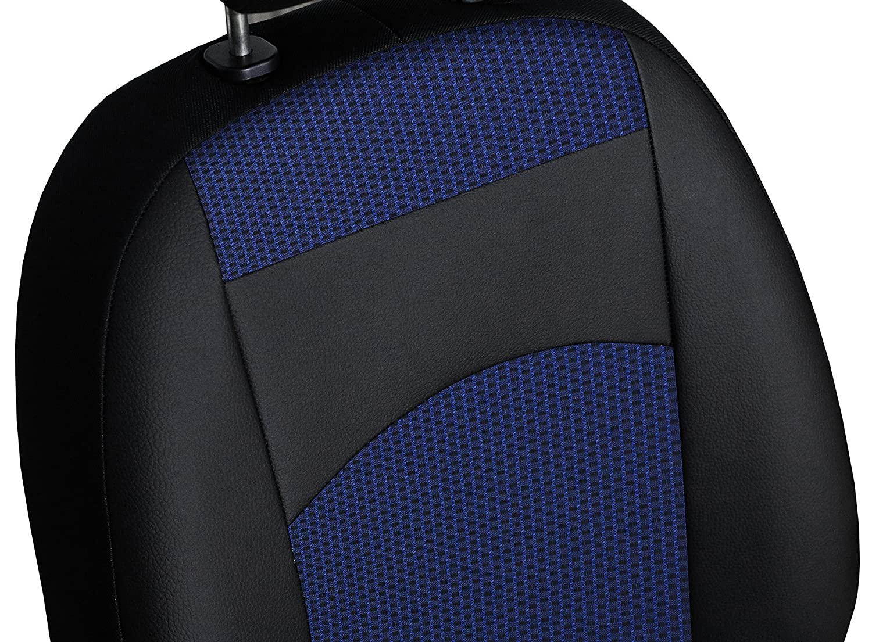 Design ROYAL Stoff mit Kunstleder in 4 Farben Ma/ßgefertigte Pa/ßgenaue Sitzbezugset f/ür HILUX VIII Generation ab 2016