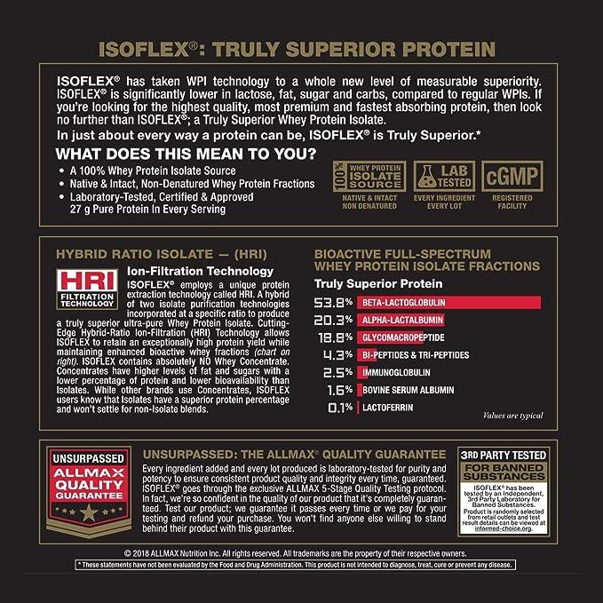 ALLMAX NUTRITION IsoFlex - Whey Protein Isolate Vanilla 2 ...