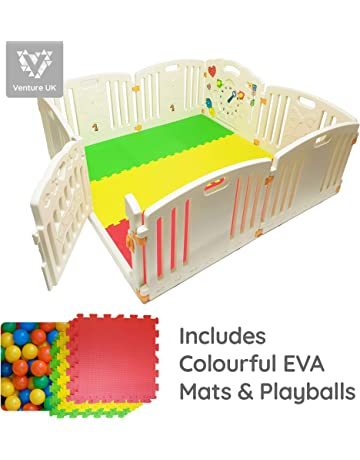 NEW Venture ALL STARS Baby Playpen | 8 Pcs Including Fun Activity Panel | Fitted Floor