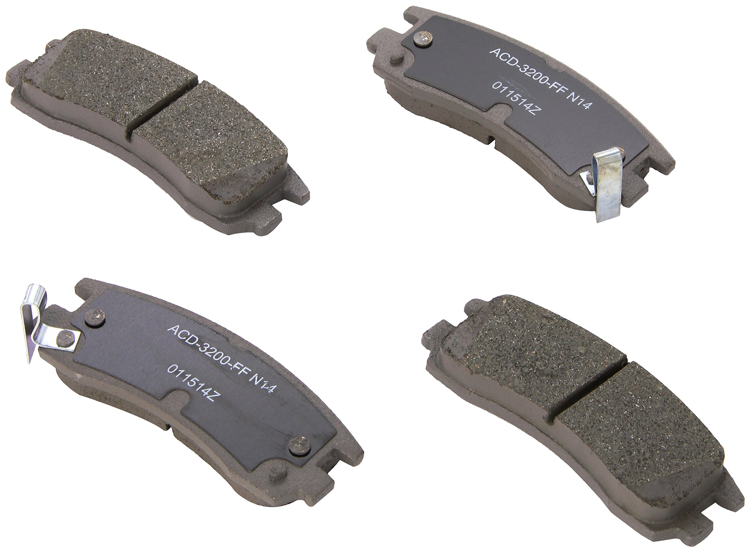 ACDelco 14D698CH Advantage Ceramic Rear Disc Brake Pad Set by ACDelco