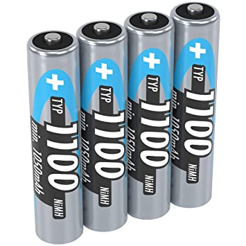 Amazon.com: Ansmann AAA 1100 mAh 4-Pack Blister pilas ...