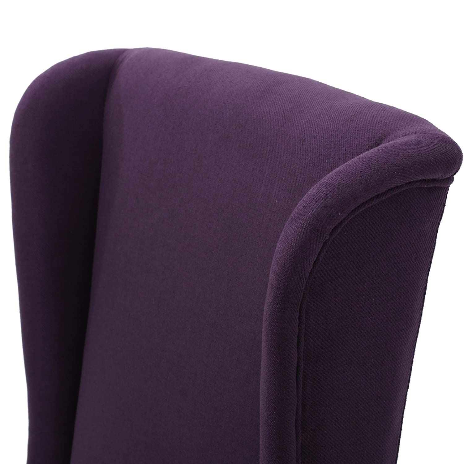 Christopher Knight Home 299948 Callie Plum Fabric Dining Chair