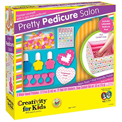 Creativity for Kids Pretty Pedicure Salon - Pedicure Party Play Set for Kids: Toys & Games