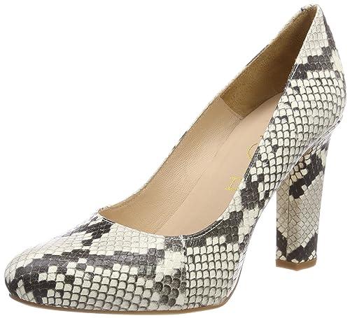 Unisa Patric_18_vp, Zapatos de Tacón con Punta Abierta para Mujer, Multicolor (Nacar), 39 EU