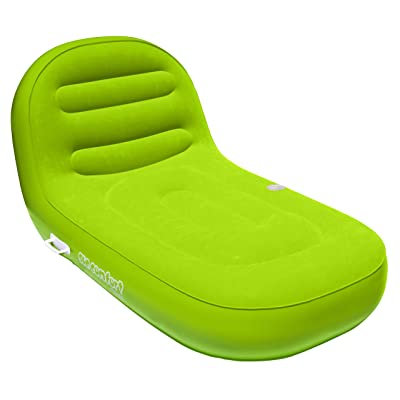 SUN COMFORT COOL SUEDE Chaise Lounge, Lime: Sports & Outdoors