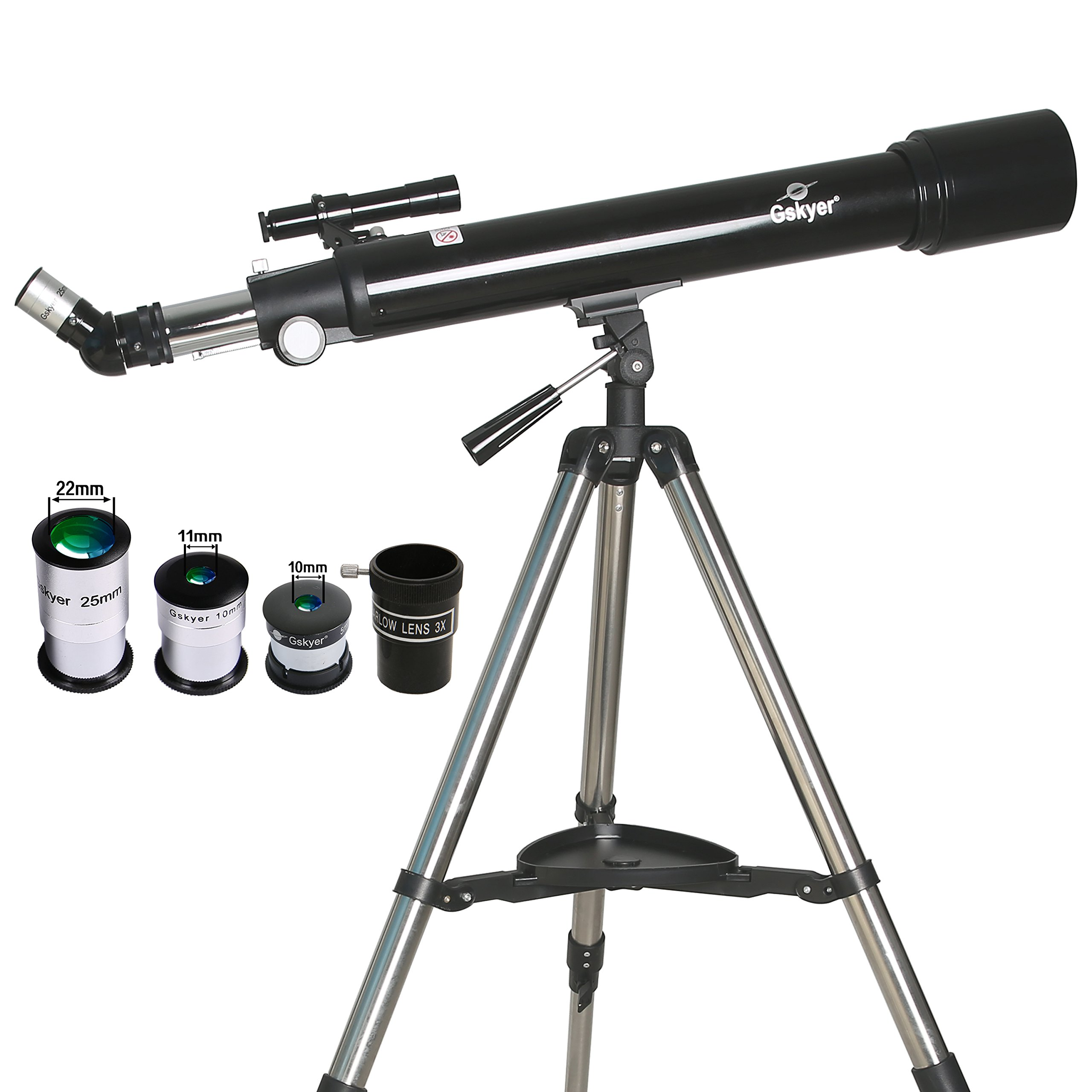 Gskyer Telescope,AZ70700 German Technology Telescope,Instruments Infinity Refractor by Gskyer