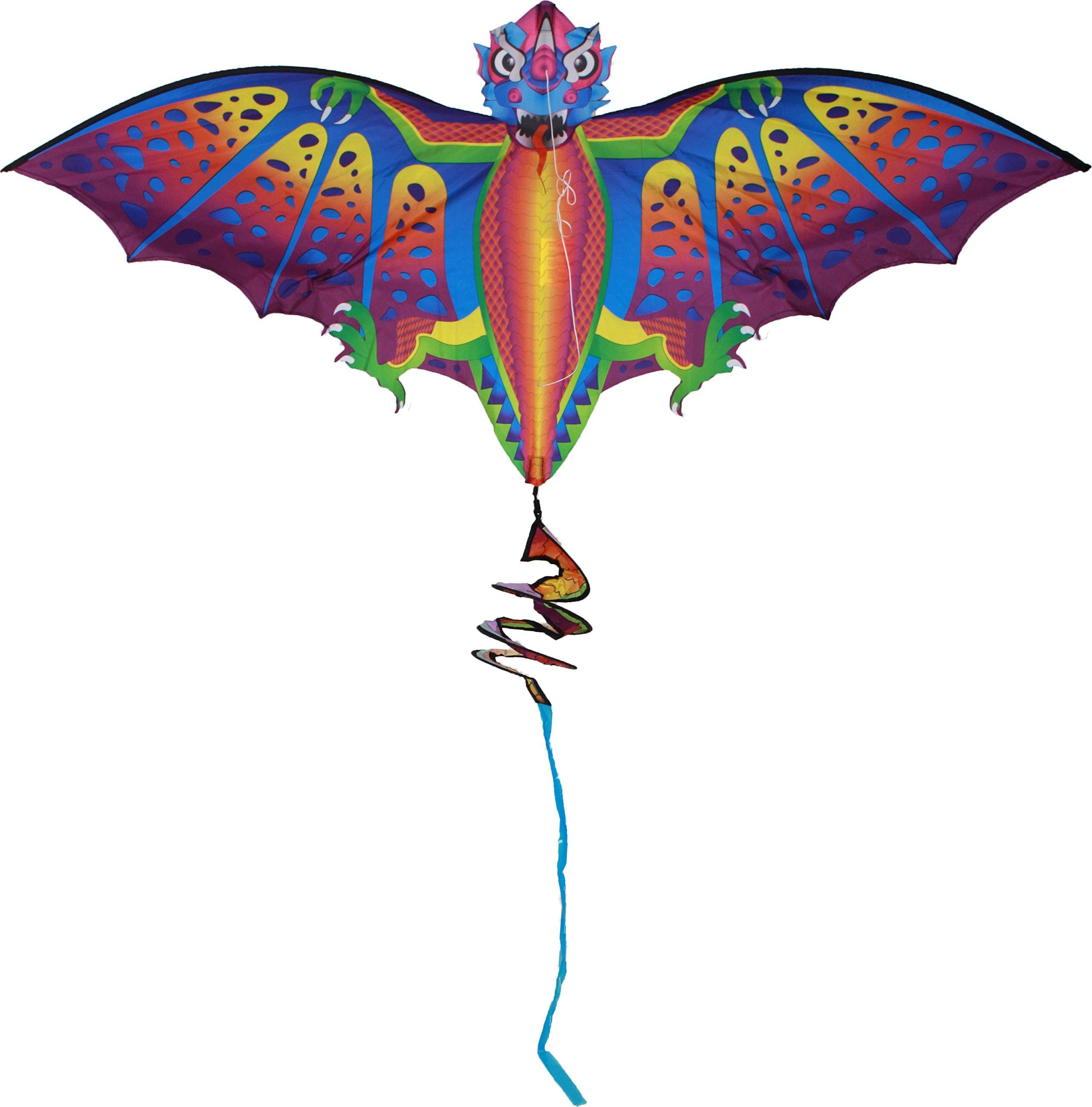 X-Kites StratoKites Dragon Rip-Stop Nylon Kite,  50'' Wide