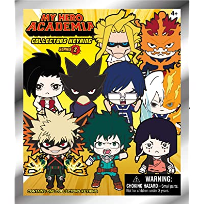 Funimation My Hero Academia Series 2 - 3D Foam Collectible Bag Clip in a Blind Bag, Multi Color, One-Size: Toys & Games