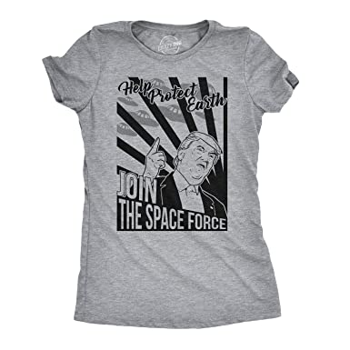 6fb03441 Crazy Dog T-Shirts Womens Join The Space Force Tshirt Funny Trump USA  Politics Tee