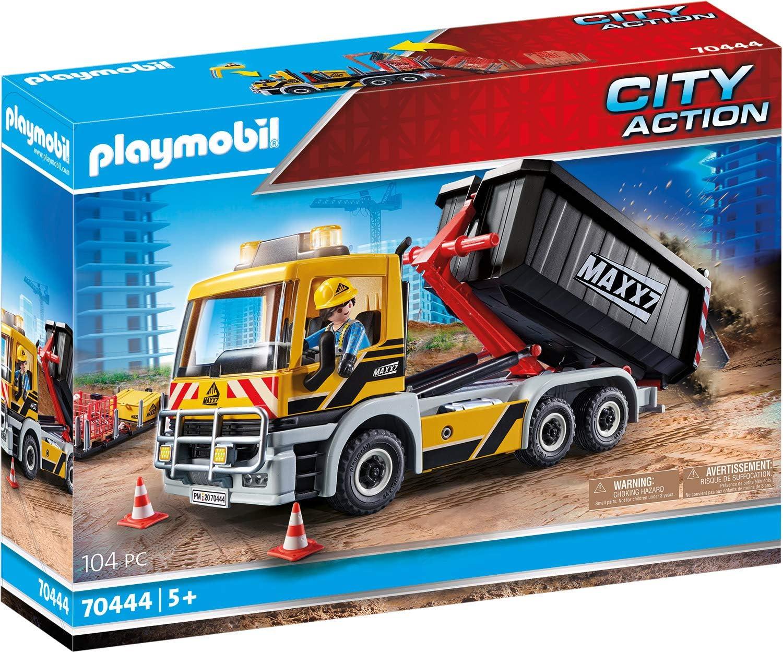 Playmobil - Construcción, Camión Construcción, Juguete, Color Multicolor, 70444