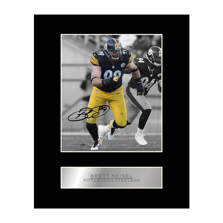 Pittsburgh Steelers NFL Signiertes Foto mit Autogramm von Brett Keisel Iconic pics