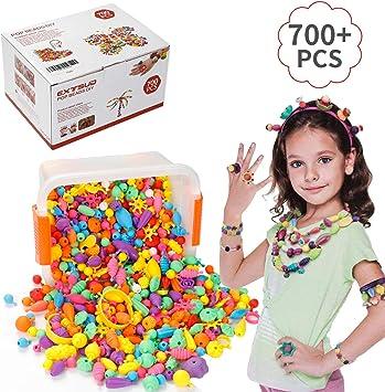 Jewellery Making DIY Kid Pop Beads Toy 72 Pcs Fashion Girls Accessories Toy