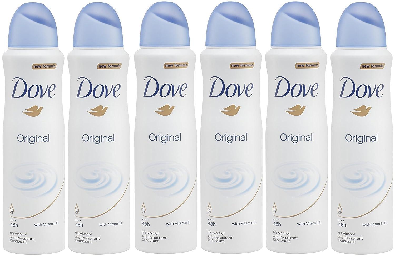 DOVE ANTIPERSPIRANT DEODORANT ORIGINAL WOMEN 150ML - PACK OF 6 Dove Deodorant
