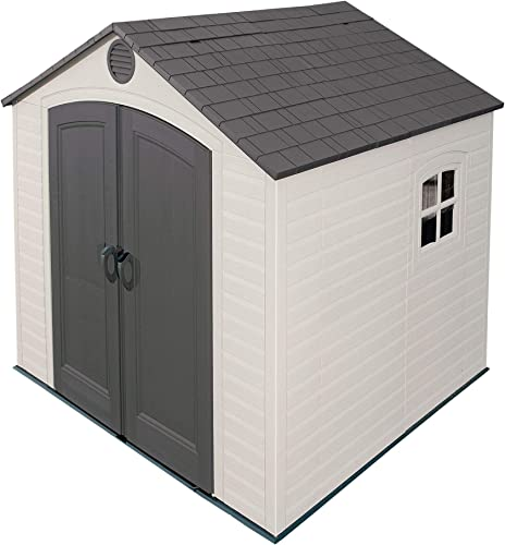 Lifetime 6411 Outdoor Storage Shed with Window, 8 by 7.5 Feet,Putty Brown