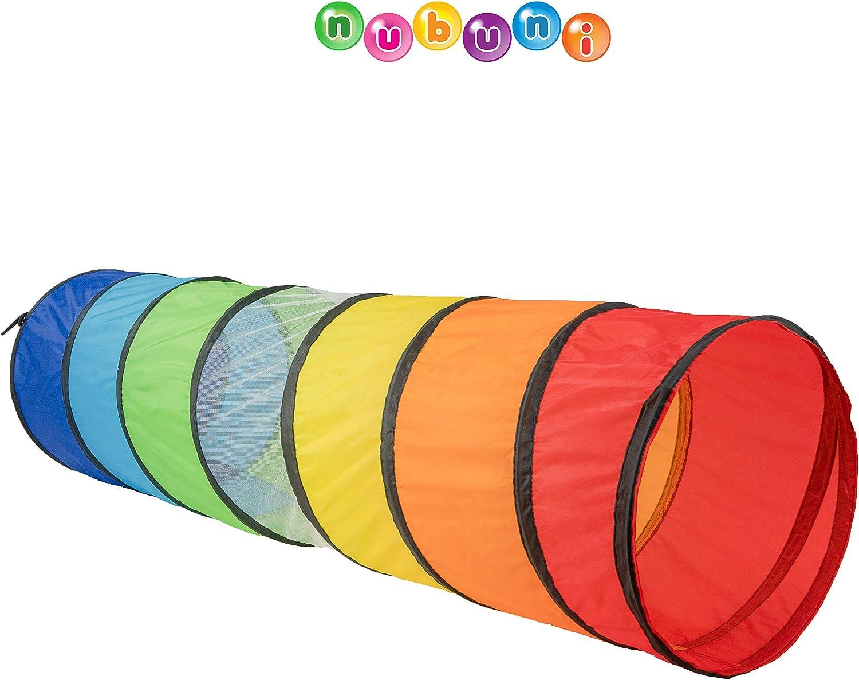 NUBUNI Tunel Plegable para Niños 180 cm : Tunel Infantil : Tunel para niños : Tunel Niños : Túnel : Tunel psicomotricidad : Color Connection