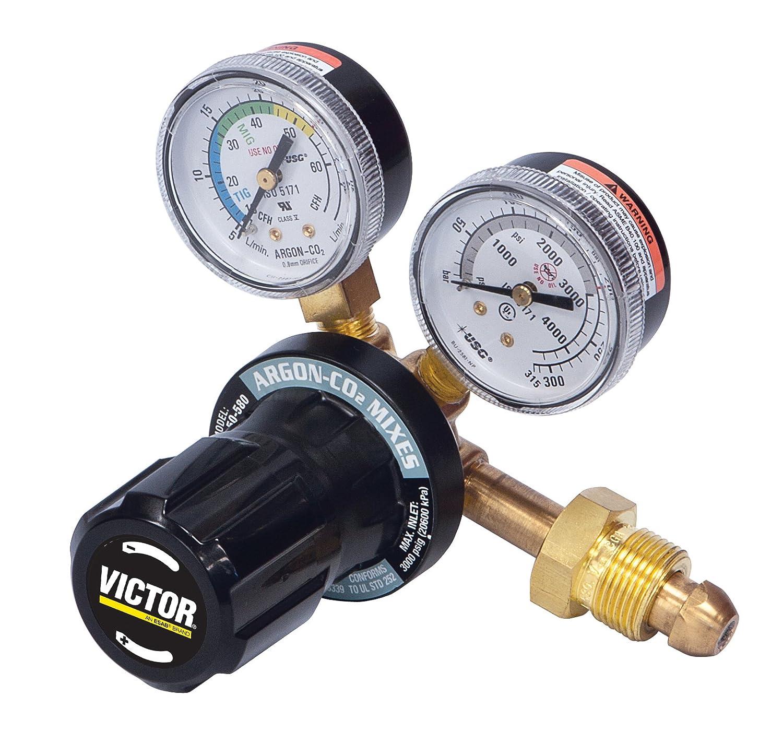 Victor 0781-9411 Model GF-250-50-580 Argon Flow Gauge Regulator