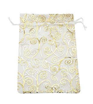 Amazon.com: SUNGULF 100 bolsas de organza con cordón de 5.9 ...