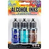 Ranger Adirondack Brights Alcohol Ink, 0.5-Ounce, Mariner-Indigo/Mermaid/Teakwood