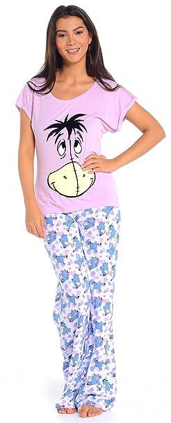Mujer Pijama de Igor de Disney Winnie Lila Jersey Viscosa algodón dibujos animados 8 10 Morado