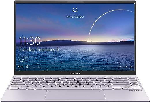 """ASUS Zenbook 14 UX425EA-BM020T, Notebook in alluminio, Monitor 14"""" FHD Anti-Glare, Intel Core 11ma generazione i7-1165G7, RAM 16GB, 512GB SSD PCIE, grafica Intel Iris Xe, Windows 10 Home, Lilac Mist"""