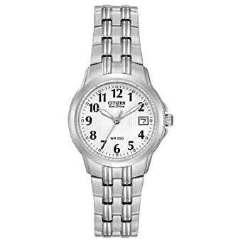 6b94635208d443 Image Unavailable. Image not available for. Color: Citizen Women's  EW1540-54A Eco-Drive Silhouette Sport Stainless Steel Watch