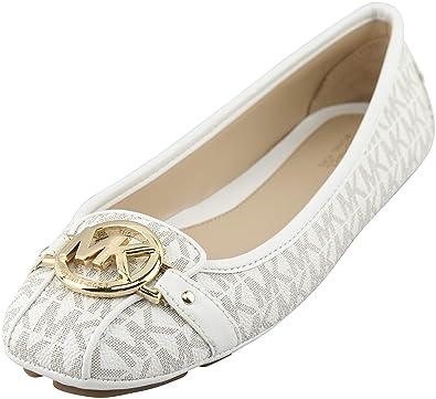56df02b12 Image Unavailable. Image not available for. Color: Michael Michael Kors  Women's Vanilla PVC Fulton Moc Flats ...