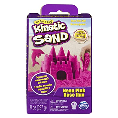 Kinetic Sand Spinmaster Modelling Sand Base Pack, 227 g, 227 gr Pink: Toys & Games