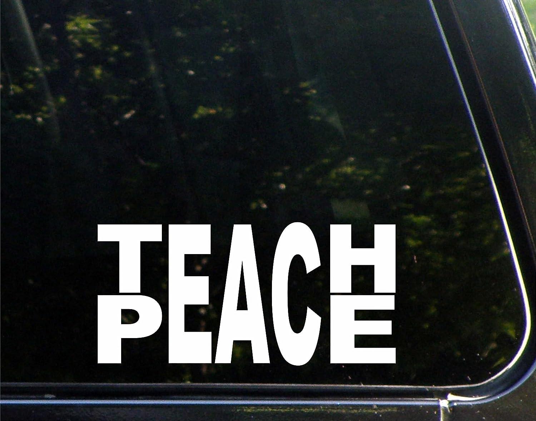 "Teach Peace ( 8 "" x 4 "" ) Die Cutデカールバンパーステッカーfor Windows、車、トラック、ノートパソコン、etc   B018FIP4VS"