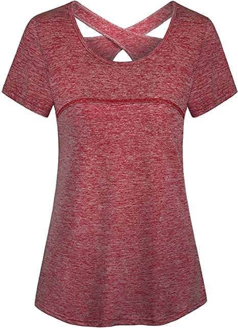 Amazon.com: Tanst Sky - Camiseta de yoga para mujer, manga ...