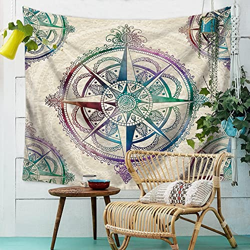 Tapestry Mandala Hippie Bohemian Tapestries Wall Hanging Retro Compass Tapestry Wall Hanging Indian Dorm Decor Compass2 7959 Inch