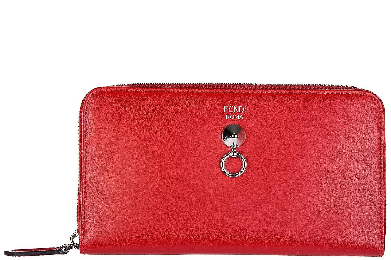 f643895f Fendi women's wallet leather coin case holder purse card bifold zip ...